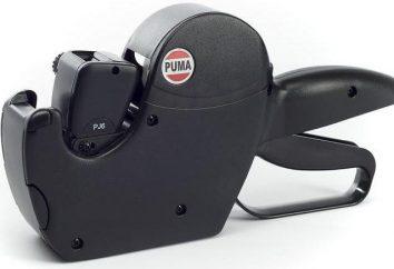Etiquette-pistols for price tags: descrição, características, comentários