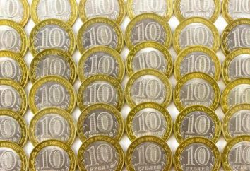 Peso 10 moedas do rublo da Federação Russa