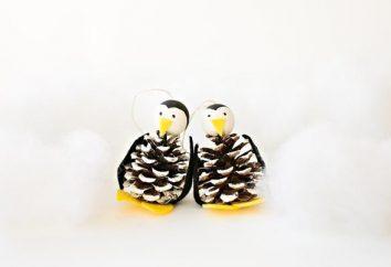 Pinguin aus Plastilin auf verschiedene Weise