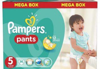 Bragas, pantalones pañales Pampers 5: revisiones
