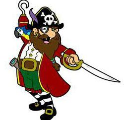 Jak narysować jasnym pirata i zabawny