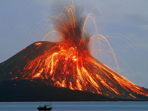 differentes eruptions volcaniques