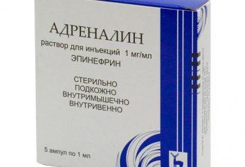 Epinefrina cloridrato: istruzioni per l'uso, una descrizione della preparazione