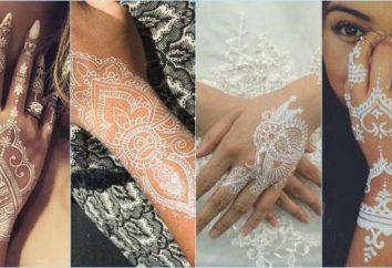 Weiß Henna mehendi für wie, real verwenden