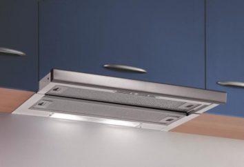 Campanas en la cocina sin aire: formularios, comentarios, fotos