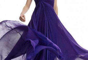 Wybierając długą piękną sukienkę