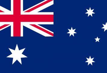 Flagge von Australien und die Geschichte ihres Auftretens
