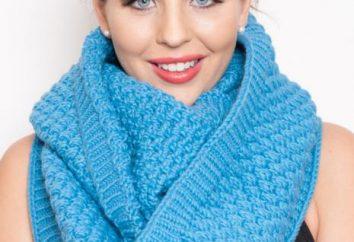 Écharpe ronde: comment s'appelle-t-elle et peut-elle être tricotée le plus sur les aiguilles