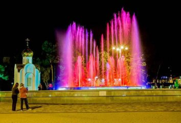 fontaines chantant à Anapa: Description et commentaires