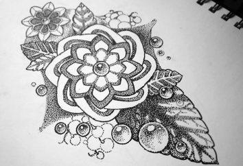 Dotvork tatuaż (szkicach)
