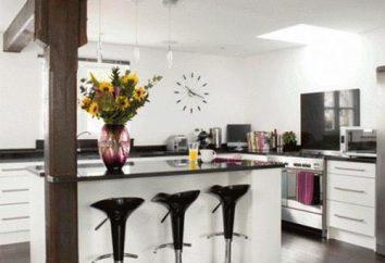 Idées de conception. Table de bar pour la cuisine