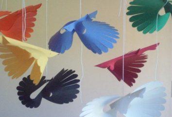 Ptaki z papieru jako symbol szczęścia w domu