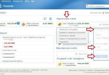 Comment transférer de l'argent de la « WebMoney » sur la carte: Guide