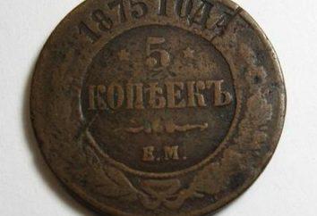 pièces de monnaie en cuivre dans la Russie impériale