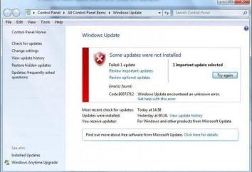 Mensagem Código 80073712 do Windows erro e métodos de sua correção 7 upgrade
