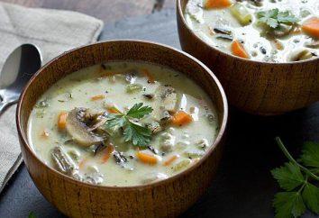 Cómo cocinar una deliciosa sopa con queso y setas