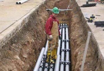 Verlegen von Kabeln im Boden in den Rohren: die Grundregeln der Arbeit