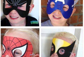 Máscara para a criança com as próprias mãos