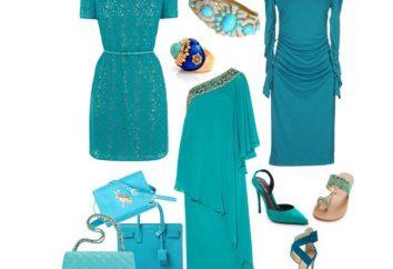 Les belles choses turquoise et la combinaison harmonieuse avec d'autres couleurs