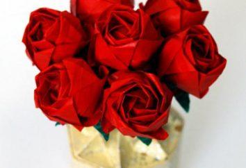 Die beste Origami Werbung – Rose von Ihrem Kind gemacht