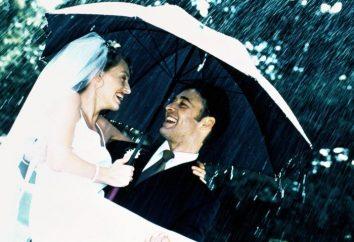 La lluvia en la boda – un buen augurio