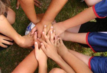 Slogans und Motto für das Team. Gruß, Gesänge, Slogans, Gesänge für Sportmannschaften