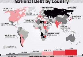 dług publiczny krajów świata. Ranking krajów według poziomu długu publicznego