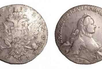 Münzen des russischen Reiches. Kosten und Merkmale