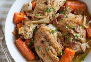 Duszony kurczak z cebulą i marchewką: recepty