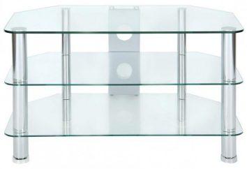 Szklany stolik pod telewizor deska na szafce (foto)