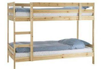 Łóżko piętrowe z rękami. Prawie kompleksu