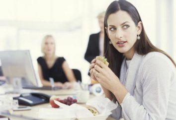 Mittagspause. Artikel 108 des Arbeitsgesetzes. Pausen für Ruhe und Mahlzeiten