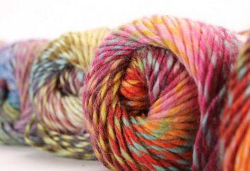 fil épais pour le tricotage. Cap de fil épais, crocheter