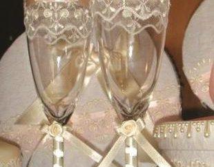 Jak urządzić ślub szkła z rękami: kilka prostych pomysłów