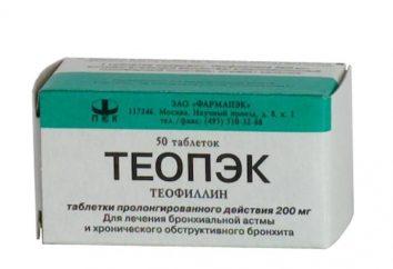 """Medicine """"teopeka"""": istruzioni per l'uso, e la descrizione"""