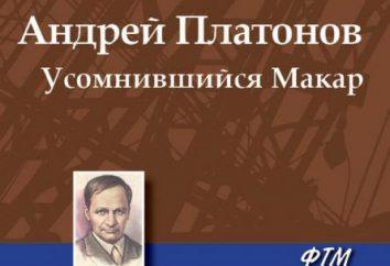 """Les œuvres d'Andrei Platonov, un résumé. """"Usomnivshiysya Makar"""""""