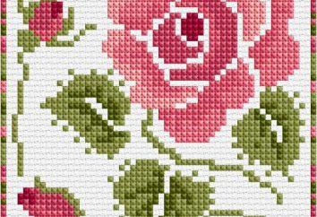 Cross Stitch: Rose (język schematu kwiatów, wartość haft)