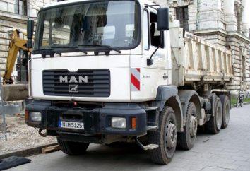Camion-benne « MAN » – l'équipement d'un homme réel