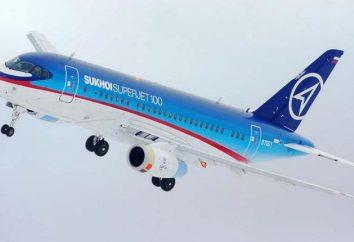 """""""Sukhoi Superjet 100-95"""". Sukhoi Superjet: schema interno, i migliori posti nel piano"""