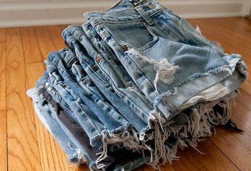 A partir de los pantalones vaqueros para hacer pantalones cortos de moda