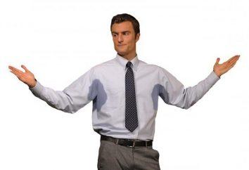 Causas de homens suando. Como curar a transpiração excessiva nos homens?
