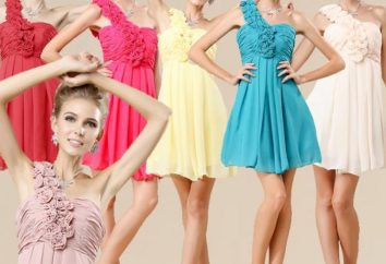vestido de noche corto: la forma de no causar la burla de los demás
