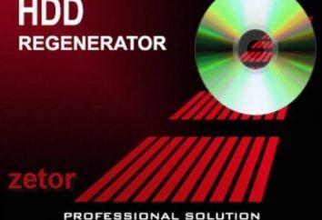HDD Regenerator W programie: przegląd, funkcje, instrukcja
