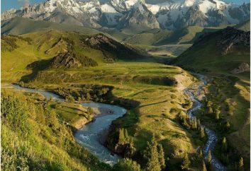 La partie continentale de l'Eurasie. Montagnes: description et en particulier