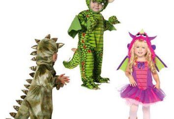 Kinder Drachenanzug mit eigenen Händen: Muster, Ideen und Beschreibung
