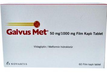"""medycyna hipoglikemii """"Galvus Met"""": Instrukcja użytkowania"""