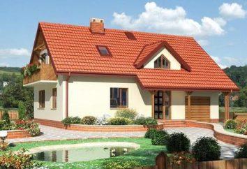 Projet de maison en bois avec un garage et un grenier à 100-200 mètres carrés. m (photo)