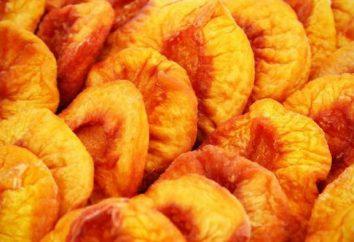 Suszone tytuł brzoskwinie, korzyści i szkód, kalorii