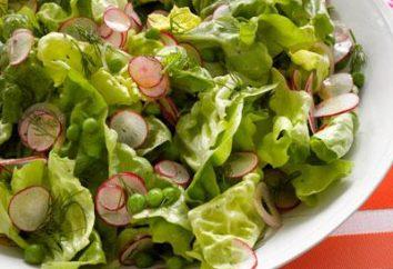 Zielona sałata z sokiem z cytryny. przepisy kulinarne