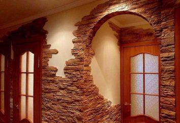 Łuki wykończeniowe z kamienia dekoracyjnego w mieszkaniu: fotografia